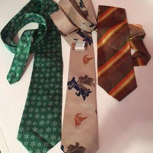 Three vintage ties